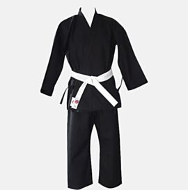 Canvas Karate Gi Black made up of Jacket + Pant 12oz