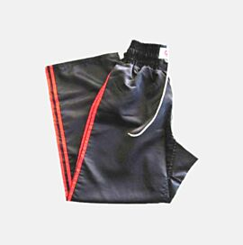 Kickboxing Pant Stylish Black with double red stripe