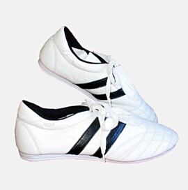 Taekwondo Shoes - White, Leather Sizes from 34 Up to 40