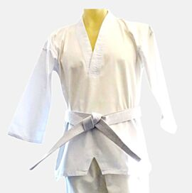 Taekwondo Uniform 100% cotton 8oz V-neck style jacket + pants + white belt