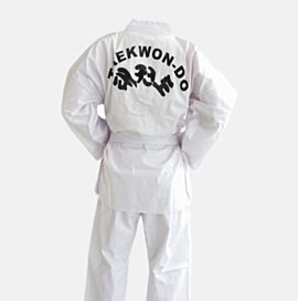 Taekwondo Uniform Cotton V-neck Style 8oz  - ITF Print on Back