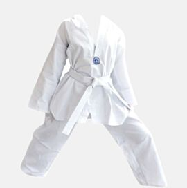 Taekwondo Uniform Polly Cotton 8oz V-Neck Heavy Duty Stitching
